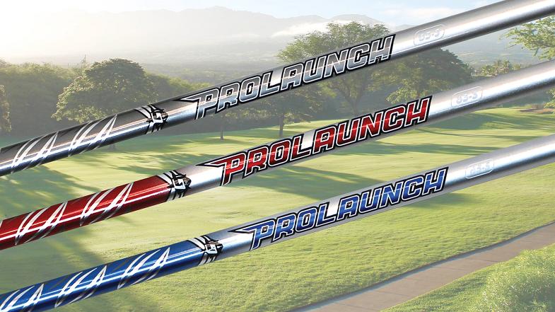 Three various models of Grafalloy ProLaunch shafts