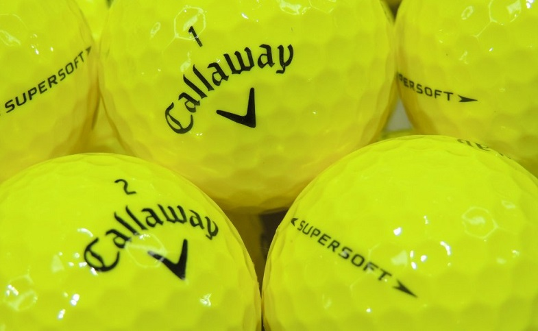 Yellow Callaway Supersoft golf balls