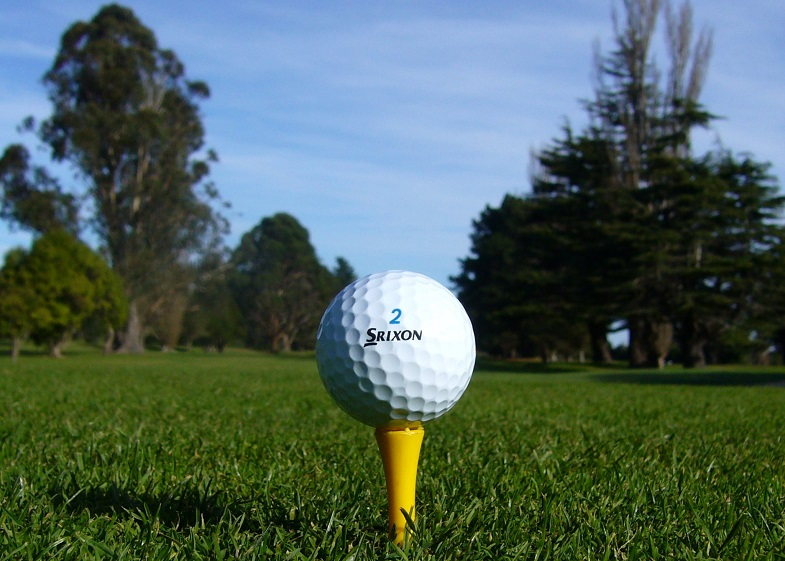 A Srixon Z-Star Golf Ball on a tee
